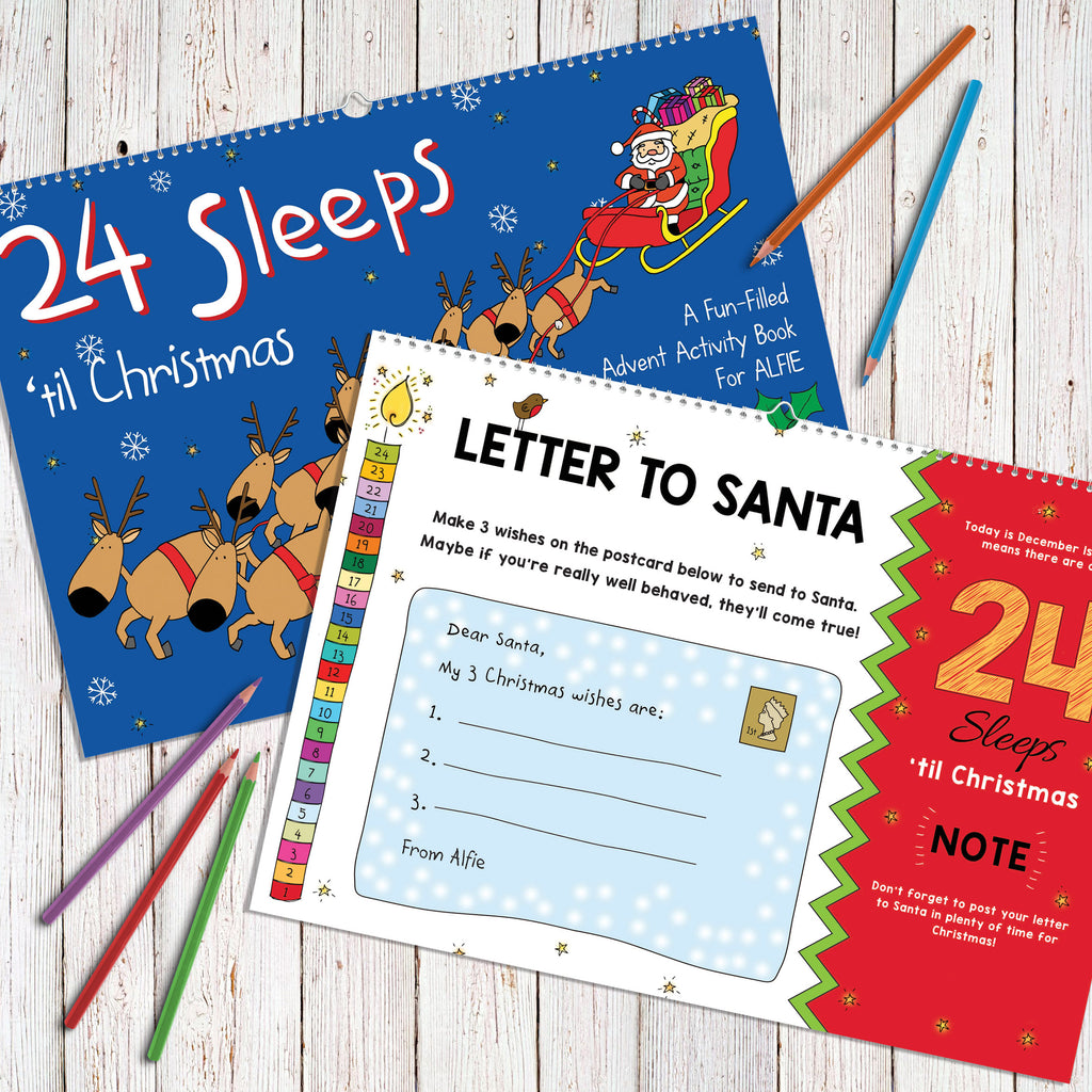 24 Sleeps 'til Christmas Personalised Book - MyCustomGiftsUK - Best Customized Products