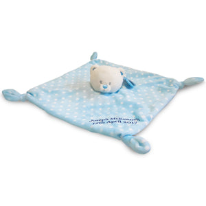 28cm Blue Bear Baby's 1st Blanket/Comforter - MyCustomGiftsUK - Best Customized Products
