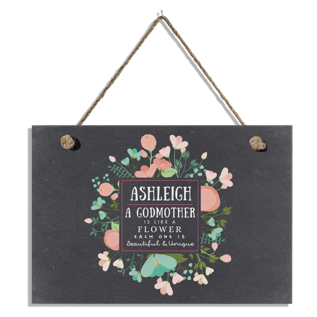 Beautiful & Unique Slate Hanging Sign