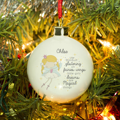 Fairy Princess Bauble - MyCustomGiftsUK - Best Customized Products