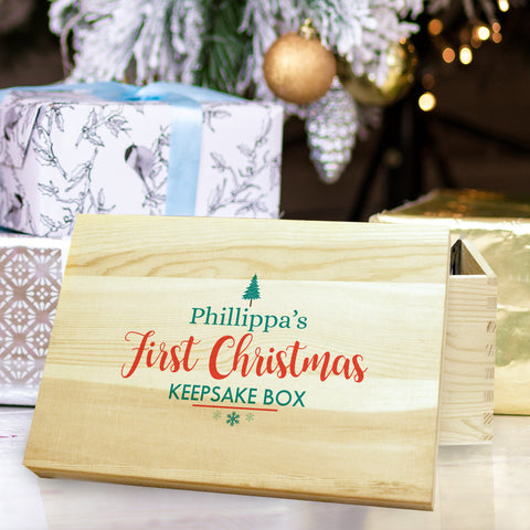First Christmas Keepsake Box - MyCustomGiftsUK - Best Customized Products