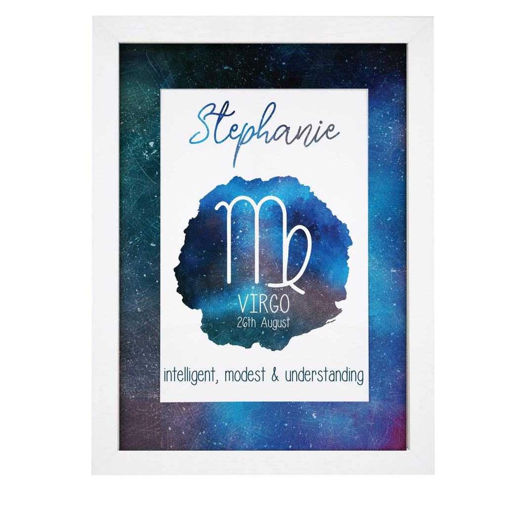 Horoscope A4 Personalised Framed Print