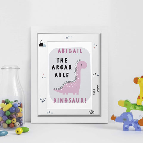A-Roar-Able Dinosaur A4 Framed Print