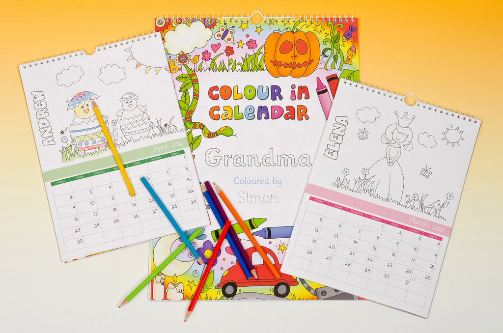 Colour in Calendar - MyCustomGiftsUK - Best Customized Products