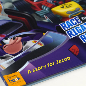 Personalised Disney Jr Mickey and the Roadster Racers Story Book - MyCustomGiftsUK - Best Customized Products