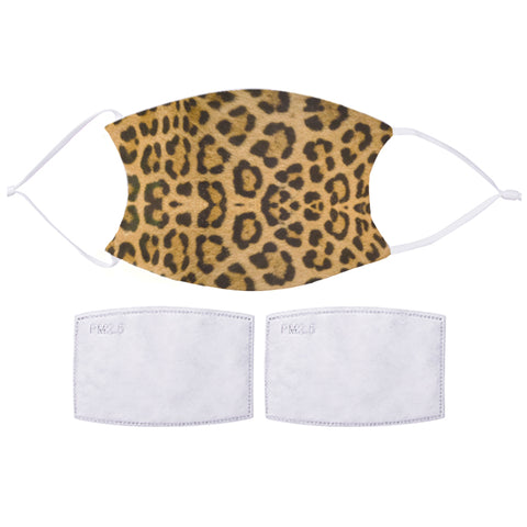 Printed Face Mask - Classic Leopard Pattern Design