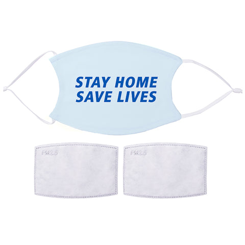 Printed Face Mask - Stay Home Design