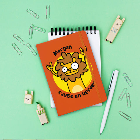 Cause An Uproar Orange Notebook - MyCustomGiftsUK - Best Customized Products