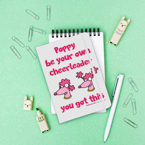 Cheerleader White Notebook - MyCustomGiftsUK - Best Customized Products
