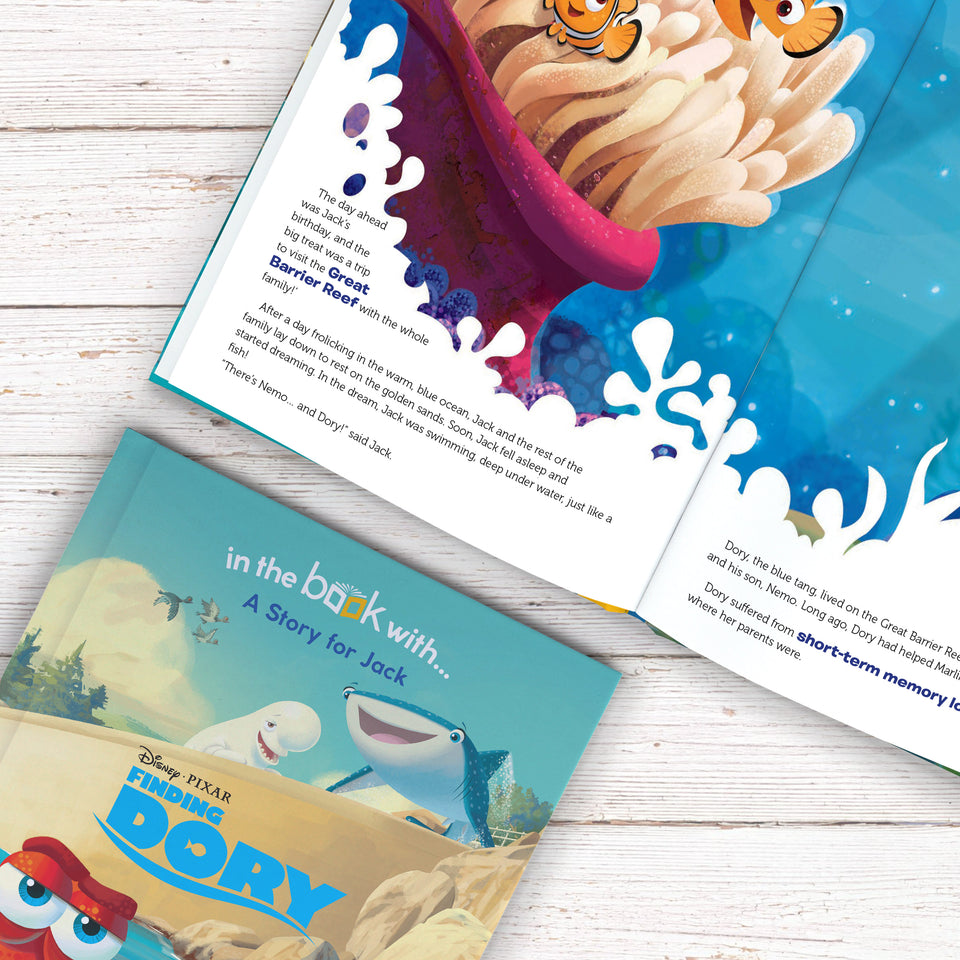 Personalised Disney Finding Dory Story Book - MyCustomGiftsUK - Best Customized Products
