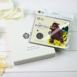 Uncirculated Gruffalo 50p in a personalised gift box