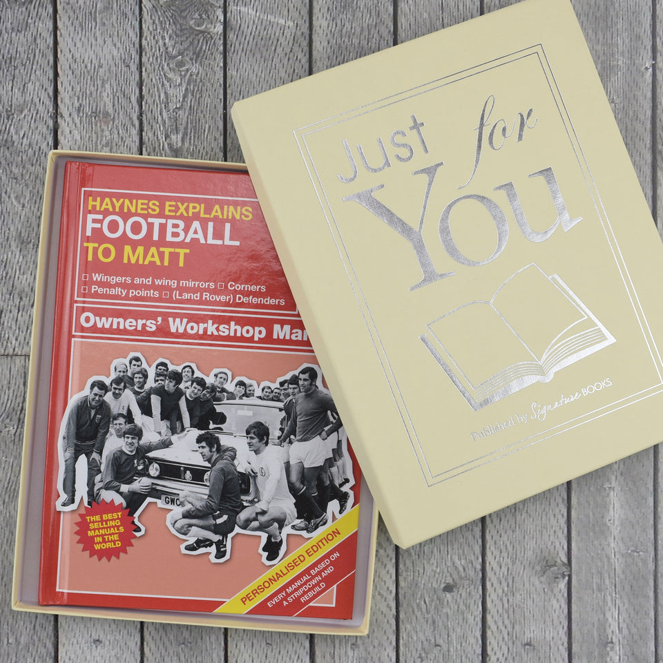 Personalised Haynes Explains Football - MyCustomGiftsUK - Best Customized Products