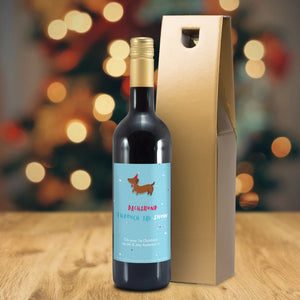 HotchPotch Dachshund Through The Snow Mulled Wine - MyCustomGiftsUK - Best Customized Products