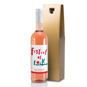 HotchPotch Festive As Rosé Wine - MyCustomGiftsUK - Best Customized Products