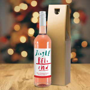 HotchPotch Jingle Bell Rosé Wine - MyCustomGiftsUK - Best Customized Products