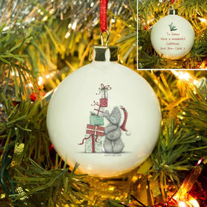 Me To You Christmas Presents Bauble - MyCustomGiftsUK - Best Customized Products