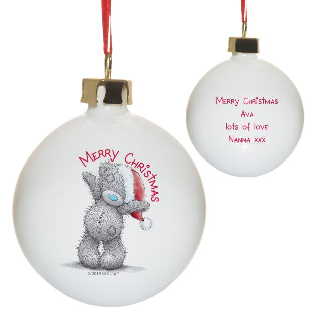 Me To You Merry Christmas Bauble - MyCustomGiftsUK - Best Customized Products