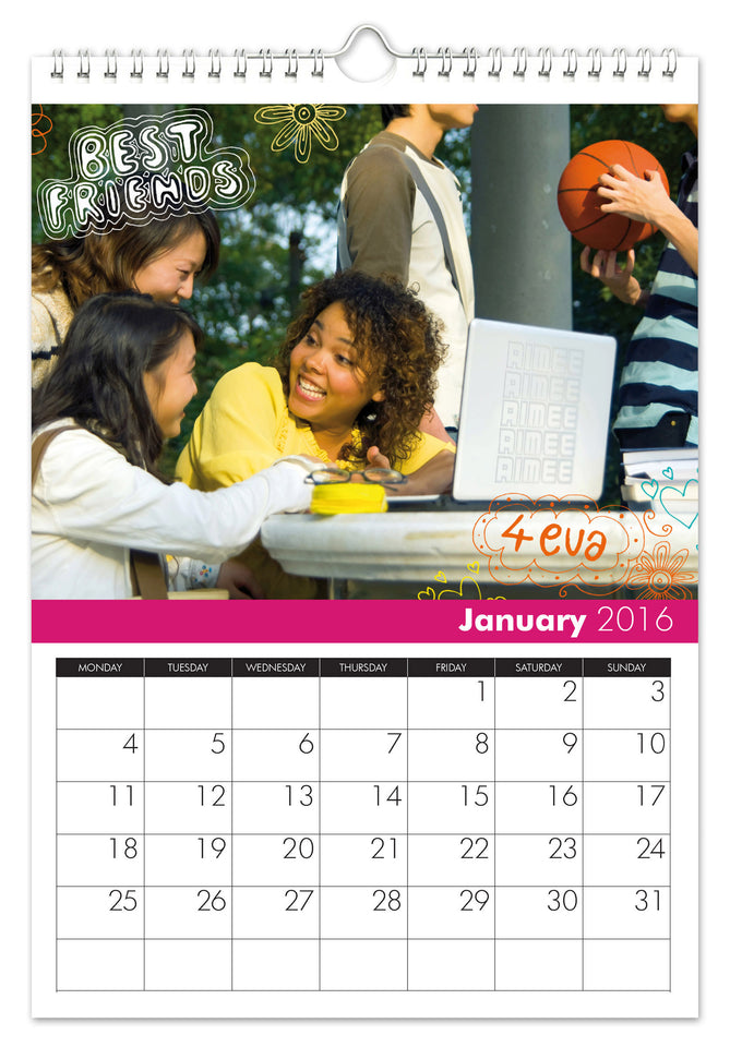 High School Cool Calendar - MyCustomGiftsUK - Best Customized Products