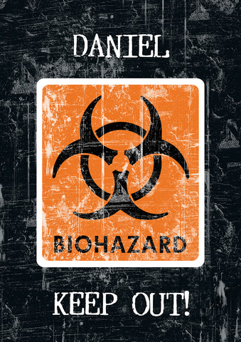 Biohazard - CAUTION Notebook - MyCustomGiftsUK - Best Customized Products