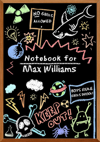 Blackboard School Notebook for Boys - MyCustomGiftsUK - Best Customized Products