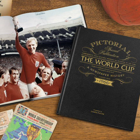 Deluxe Black Leather Pictorial Football Book