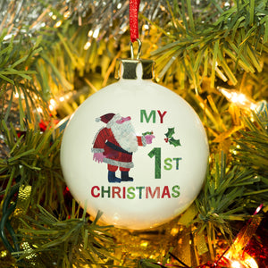 Very Hungry Caterpillar My 1st Christmas Bone China Bauble - MyCustomGiftsUK - Best Customized Products