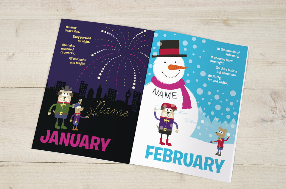 Months of the Year Personalised Book - MyCustomGiftsUK - Best Customized Products