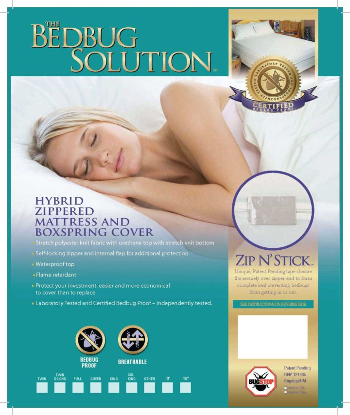 Hybrid Mattress Cover, Box Spring, Pillowcase Bundle Package