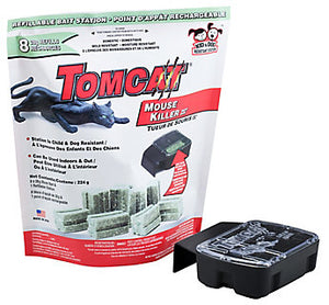 Tomcat Refillable Mouse Bait Station With 8 Bait Refill Blocks