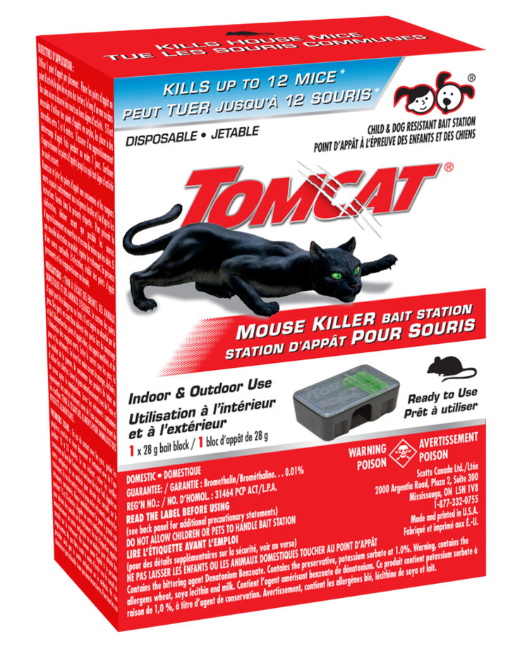 Tomcat Pre-Filled Disposable Mouse Bait Station