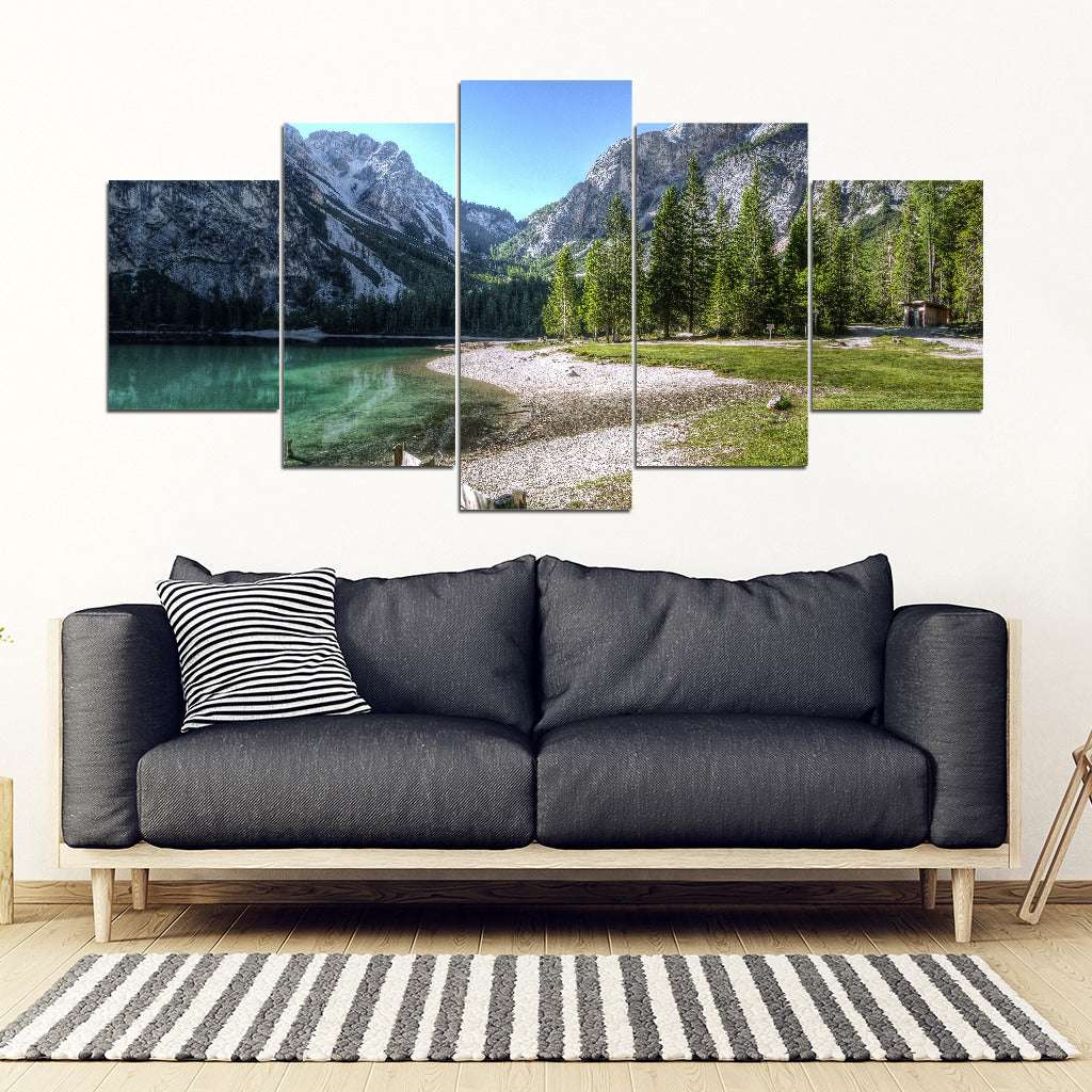 Limited Edition - Mountain Lake - X-Large Framed Canvas