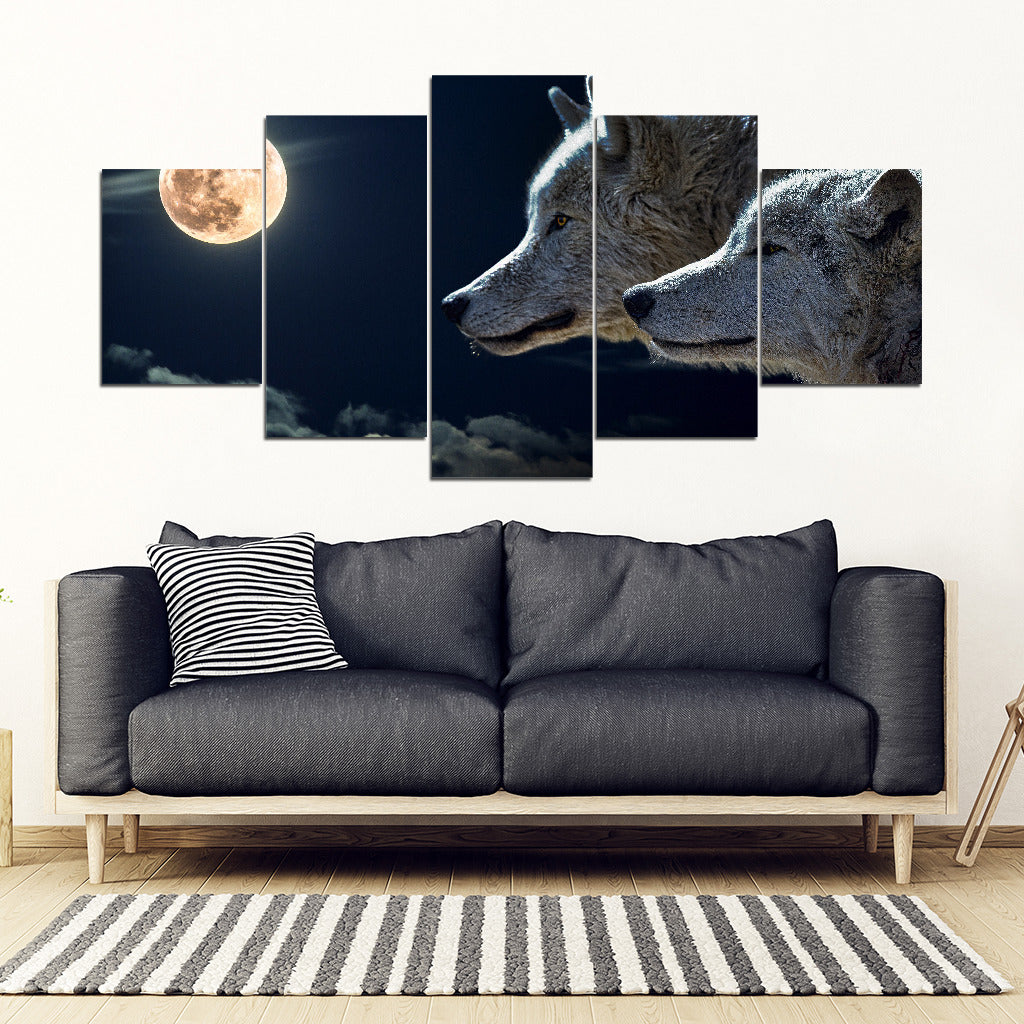 Limited Edition - Midnight Wolf X-Large Framed Canvas