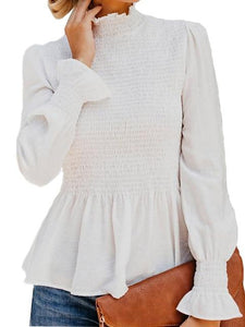 Trumpet Sleeves Chiffon Blouse