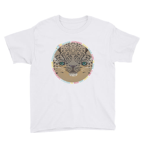 children's amur leopard print t shirt white