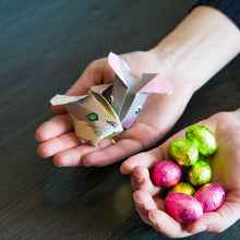 Easter Bunny Paper Rabbits | 10 Origami Sheets