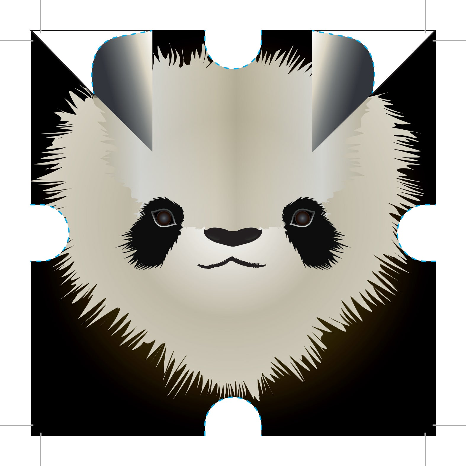 Step By Step Instructions How To Make Origami A Panda. Stock ... | 1574x1574