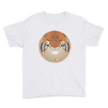 Childrens Tee Shirt bengal tiger print white
