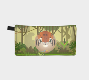 Bengal Tiger Cute Animal Print Pencil Case