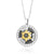 Silver pendant with a gold Star