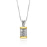 Copy of 9K Gold and Sterling Silver Spinning Cylinder Necklace with  Priestly Blessing