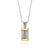 9K Gold and Sterling Silver Spinning Cylinder Necklace with  Priestly Blessing