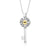 Treasure: Silver Key & Gold Star of David Kabbalah Necklace