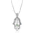 Shema Israel: Sterling Silver Hamsa Necklace