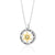 Ana Bekoach: Sterling Silver & 9K Gold Star of David Necklace with Cat's Eye Stone