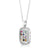 The Priestly Breastplate for Genesis, A rectangular pendant 925 Sterling Silver, With white zircon stones around , Choshen