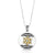 Sterling Silver, 9K Gold Star of David Necklace with Shema Yisrael and Cat's Eye Stone