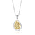 Silver combined with 9K Gold HaEsh Sheli Teardrop Necklace