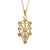 14K Gold  Kabbalah Pendant, The Ten Sefirot, Pendant in the shape of the Tree of Life