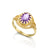 14K Gold Oval Cut, filigree ring, gold dainty Solitaire Ring with Genuine Amethyst made in your ring size,Purple Stone gold ring