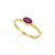 14K Gold Oval Cut Ruby , Ruby Graduation Gift, July Birthstone Ring - Gift for Her ,Minimalist